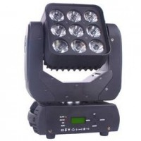 Moving Beam Matrix 9 Leds Osram De 15w Rgbw Quadriled Dmx