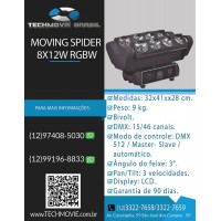 Moving Spider 8x12w RGBW