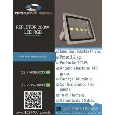 Refletor 200w Led RGB