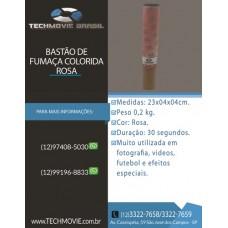 Bastão De Fumaça Colorida Rosa 30 segundos