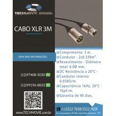 Cabo XLR 3 m