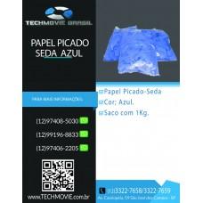 Papel Picado - Seda Azul
