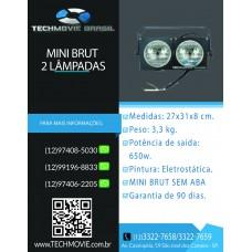Refletor Mini brut para 2 Lâmpadas