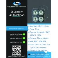 Refletor Mini brut para 4 Lâmpadas