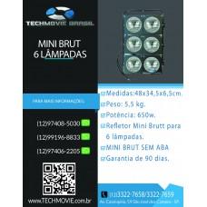 Refletor Mini Brut para 6 Lâmpadas