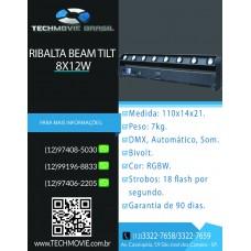 Ribalta Beam RGBW 8 leds 12w movimento tilt