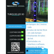 Kit Tubos de Led 3D