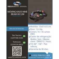 Moving Kaos Nine Beam 9x12w