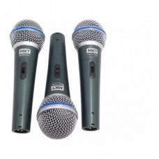 Kit 3 Microfones Profissionais