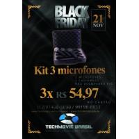 Kit 3 Microfones